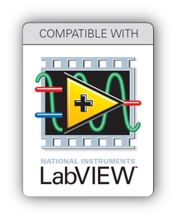 Compatible with LabVIEW.